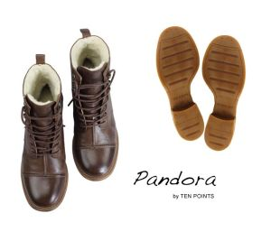 TPN 38 TEN POINTS Pandora 126002-301 Damen Booties brown