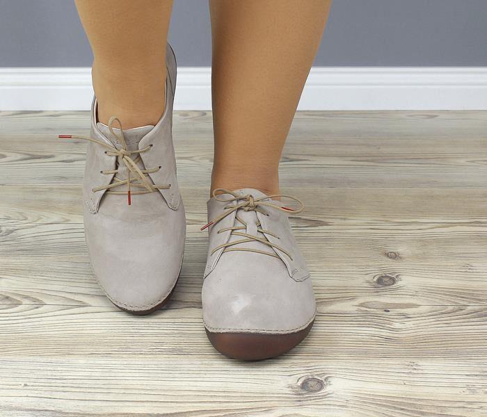 KPS 7 THINK KAPSL 82067 24 Schnür Schuhe beige braun