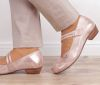 BRK 1962 BRAKO Bem 6439-davemet-rose Damen Riemchen Ballerinas rose/gold
