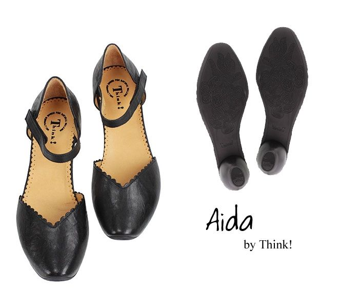 AID 413 AIDA Think Damen Spangen Pumps schwarz 89249-00