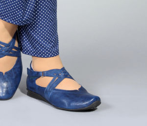 HIL 476 THINK CHILLI 86108-89-VEG indigo Ballerinas