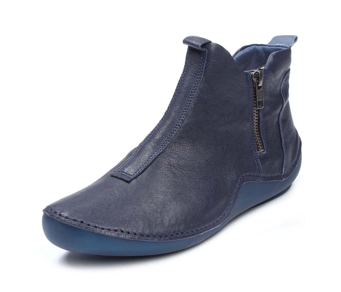 Think Sneaker Boot KAPSL Ocean Blau Leder Einlagen 3 000047 8000 Stiefelette
